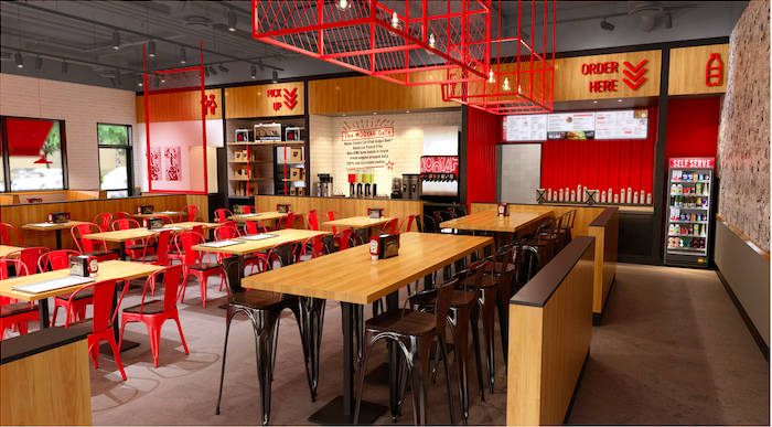 Interior burger franchise
